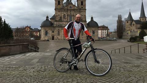 Werner Auth vor dem Fuldaer Dom
