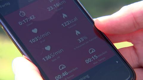 Blick auf die Messdaten auf dem Smartphone