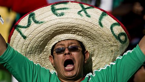 Mexikanischer Fußball-Fan