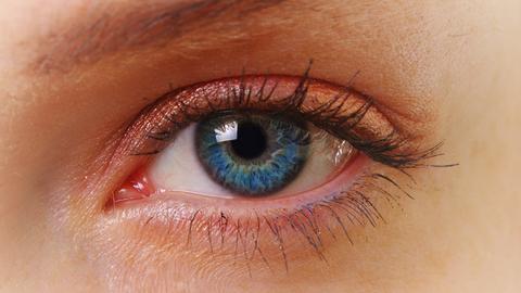 Ein Auge in Nahaufnahme
