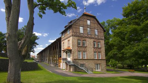 Das historische Gradierwerk in Bad Orb