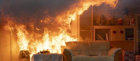 Brand in der Wohnung