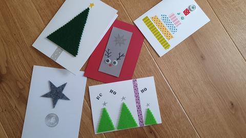 Weihnachtskarten selber machen