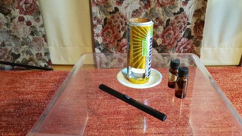 Duftlampe aus einer Getränkedose