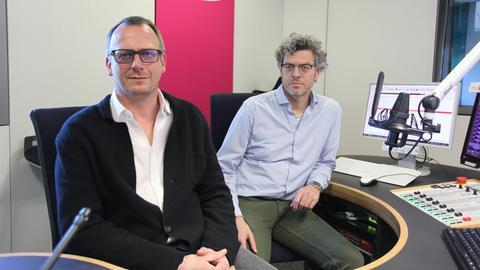 Dr. Marcus Thomé (links) und Dr. Klaus Weber vom Klinikum Kassel