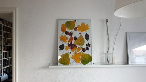 Herbstdeko aus Blättern