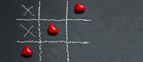 Tic-Tac-Toe mit Herzen