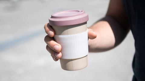 Kaffeebecher aus Bambus