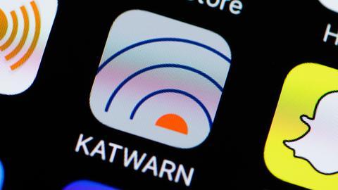Die Smartphone-App KATWARN