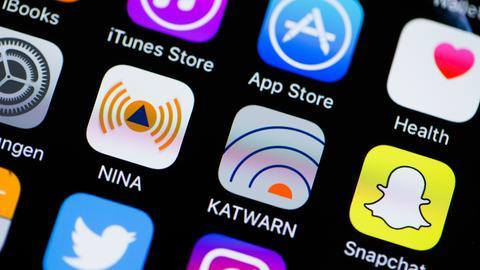 Die Smartphone-Apps NINA und KATWARN