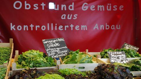 Obst und Gemüse aus kontrolliertem Anbau