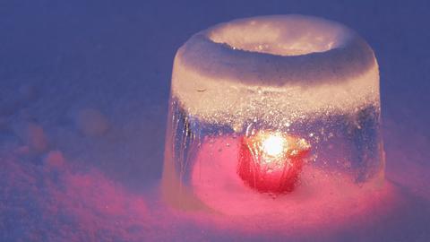 Ein Licht aus Eis