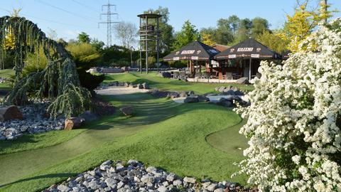 Minigolf Anlage Adventure Golf Fahrwerk Groß-Zimmern