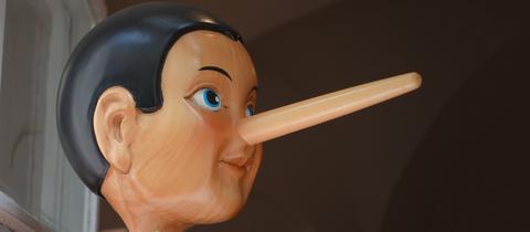 Pinocchio mit der langen Nase
