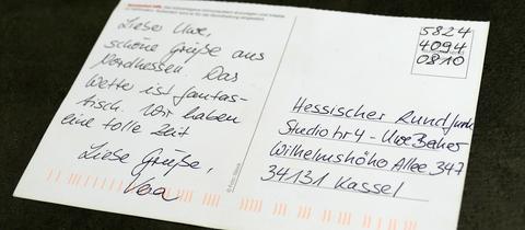 Postkarte mit Handyporto