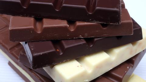 Verschiedene Schokoladensorten