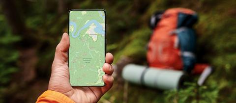 Wanderkarte auf dem Smartphone