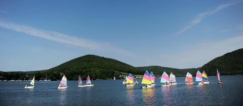 Segelboote auf dem Edersee