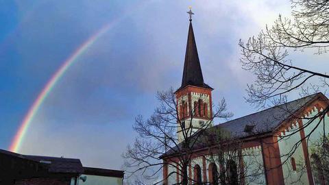 Ev. Kirche Roßdorf Kreis Darnstadt