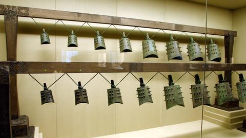 Antike Glocken in einem Museum in Shanghai.