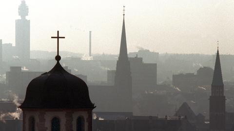 Kirchtürme über Frankfurt