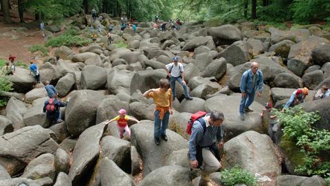 Das Felsenmeer in Lautertal im Odenwald
